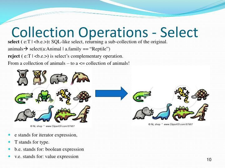 Collection Operations - Select