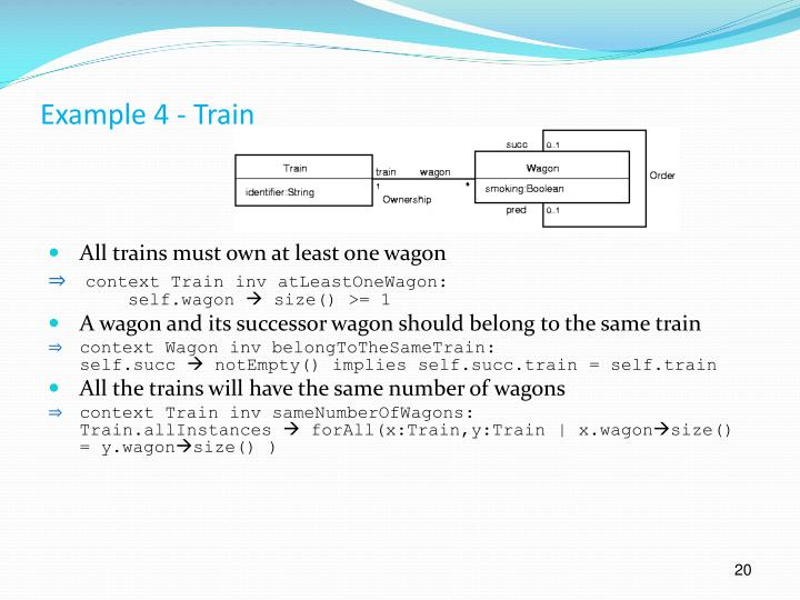 Example 4 - Train
