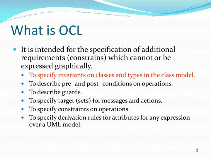 What is OCL