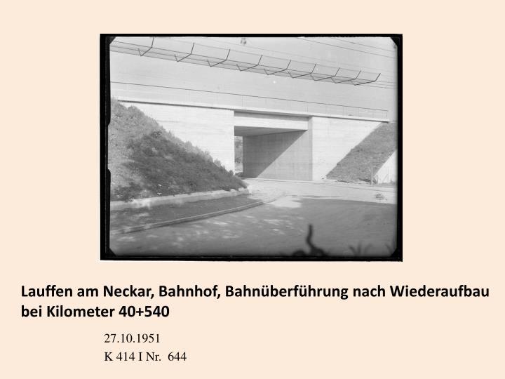 Lauffen am Neckar, Bahnhof, Bahnüberführung nach Wiederaufbau bei Kilometer 40+540