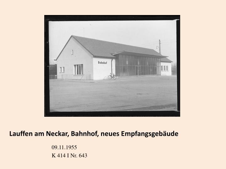 Lauffen am Neckar, Bahnhof, neues Empfangsgebäude