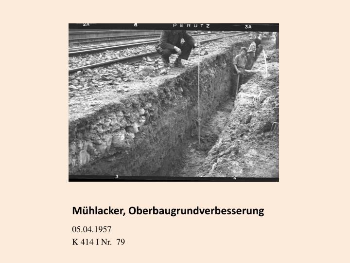 Mühlacker, Oberbaugrundverbesserung