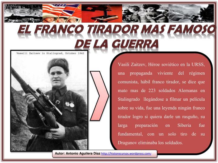 El franco tirador mas famoso de la guerra