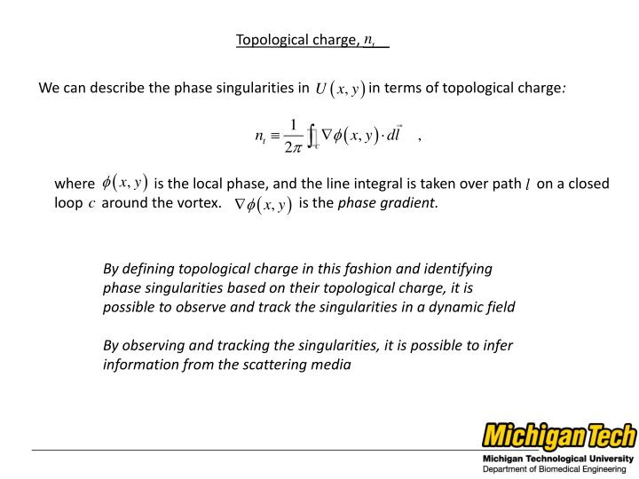 Topological charge,