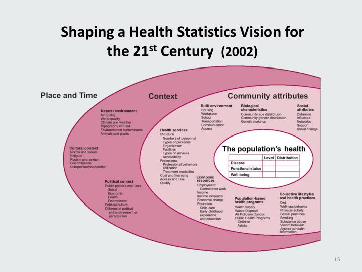 Shaping a Health Statistics Vision for