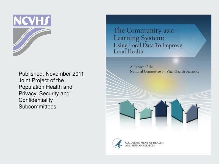 Published, November 2011