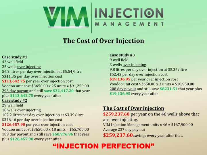 The Cost of Over Injection