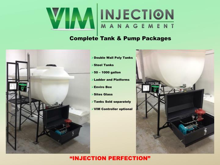 Complete Tank & Pump Packages