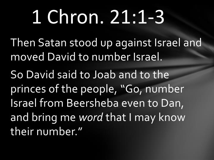 1 Chron. 21:1-3
