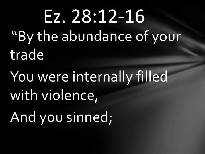 Ez. 28:12-16