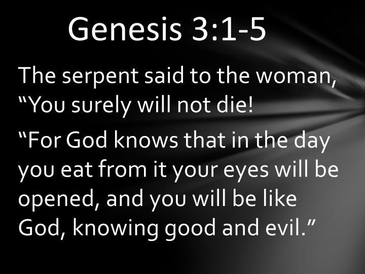 Genesis 3:1-5