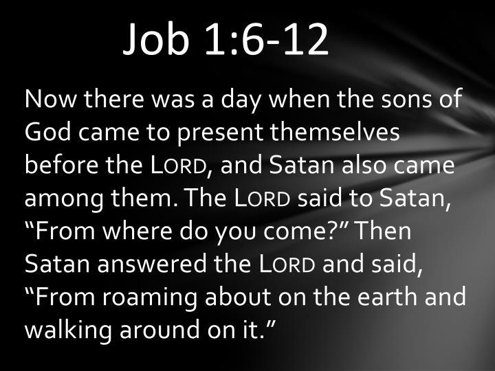 Job 1:6-12