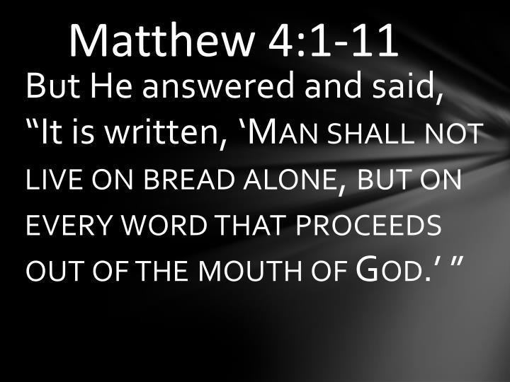 Matthew 4:1-11