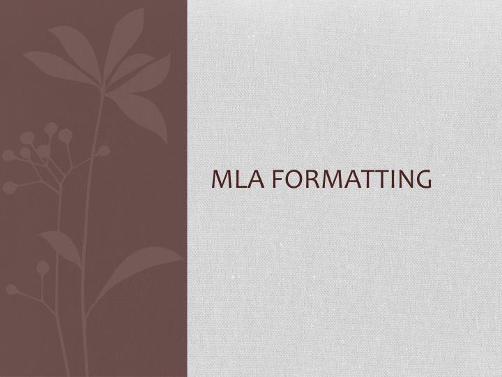 MLA Formatting
