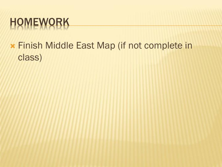Finish Middle East Map (if not complete