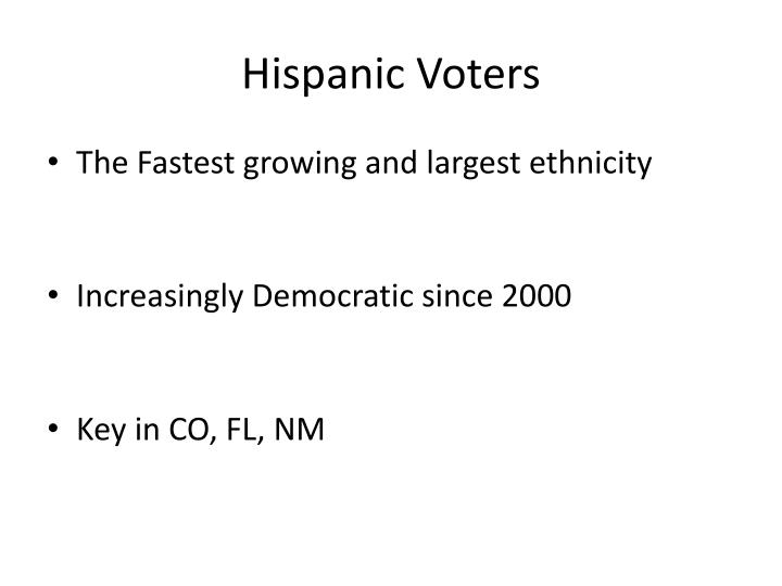 Hispanic Voters