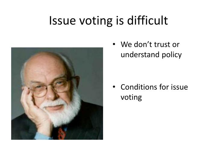 Issue voting is difficult