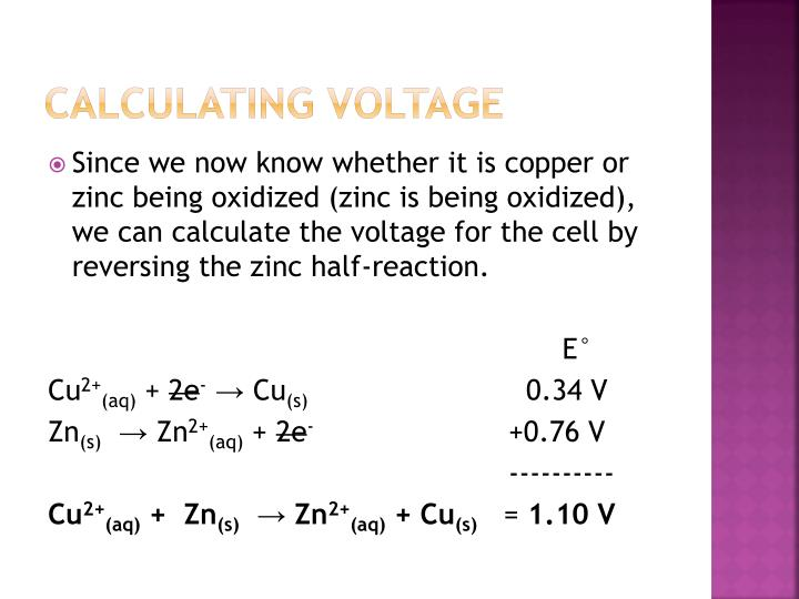 Calculating Voltage