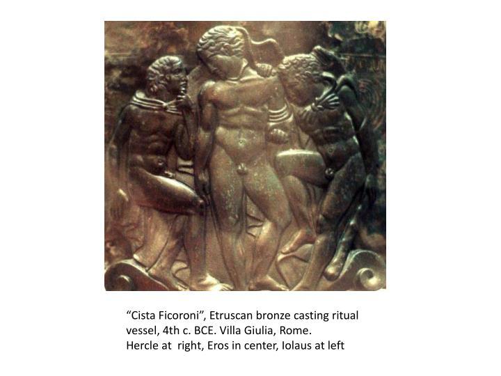 """""""Cista Ficoroni"""", Etruscan bronze casting ritual vessel, 4th c. BCE. Villa Giulia, Rome"""
