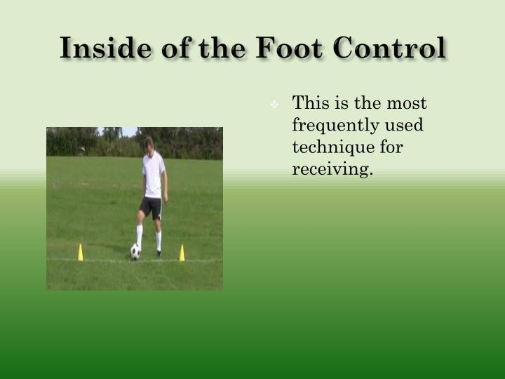 Inside of the Foot Control