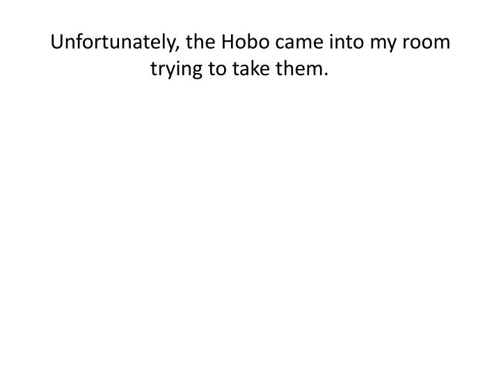 Unfortunately, the Hobo came into my room trying to take them.