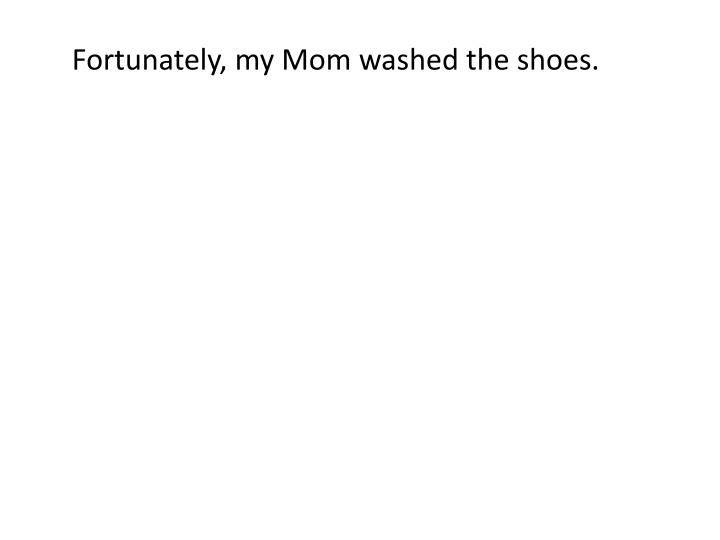 Fortunately, my Mom washed the shoes.