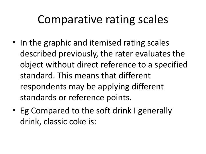 Comparative rating scales