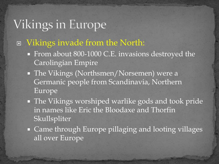 Vikings in europe