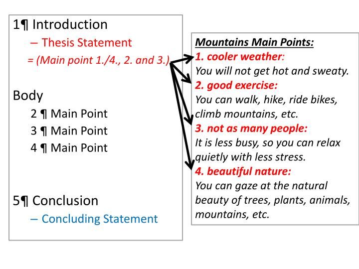 Mountains Main Points: