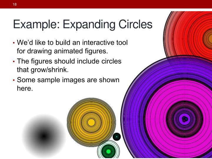 Example: Expanding Circles