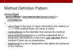 method definition pattern
