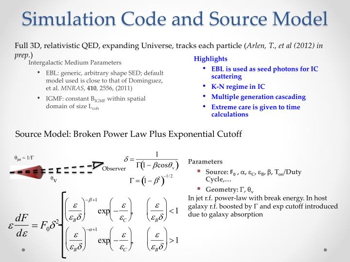 Simulation Code and Source Model