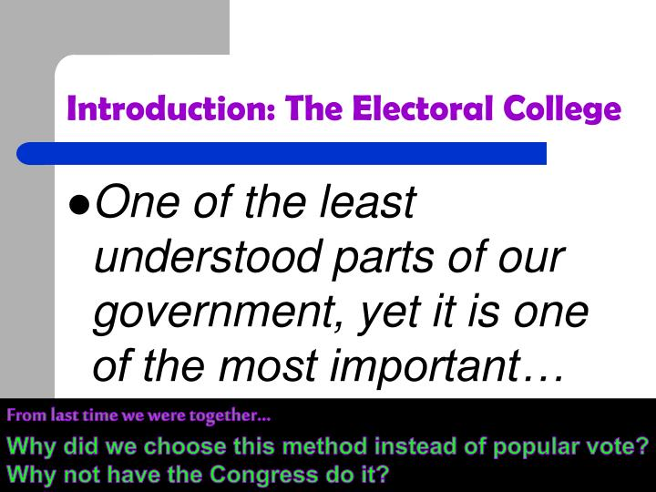PPT - The Presidential Election Process PowerPoint ...
