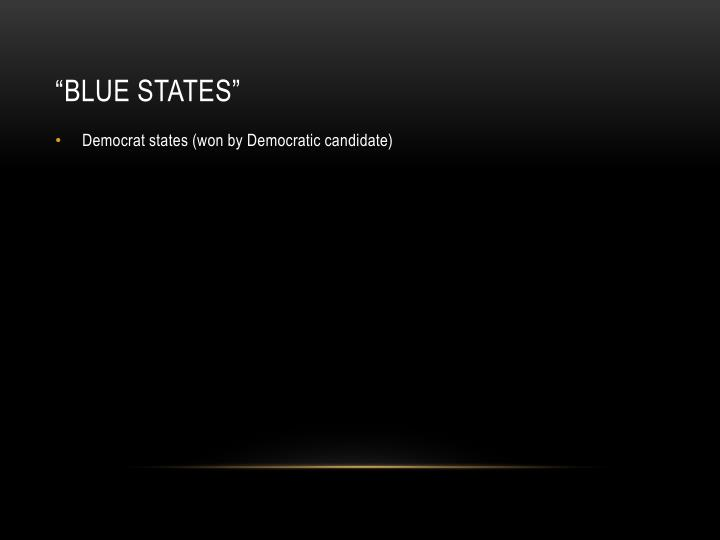 """Blue States"""