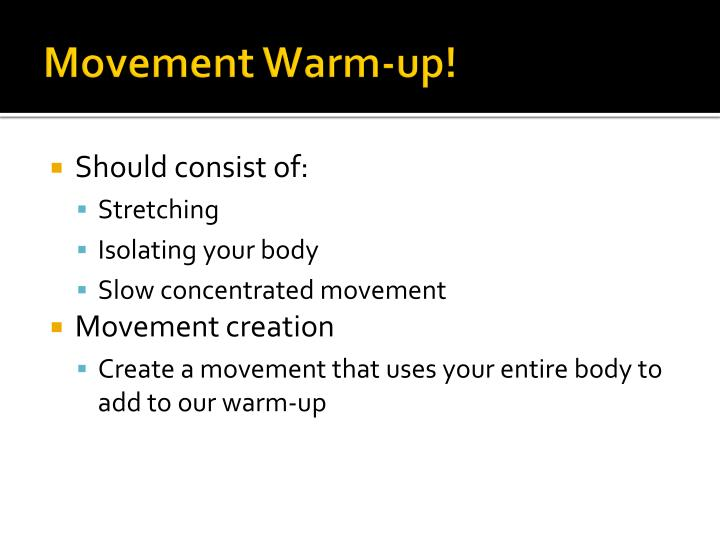 Movement Warm-up!