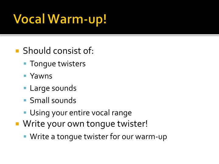Vocal Warm-up!