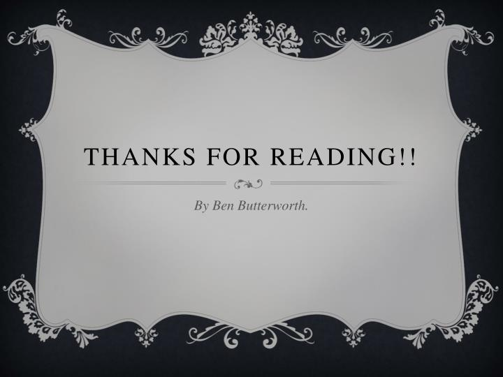 Thanks for reading!!