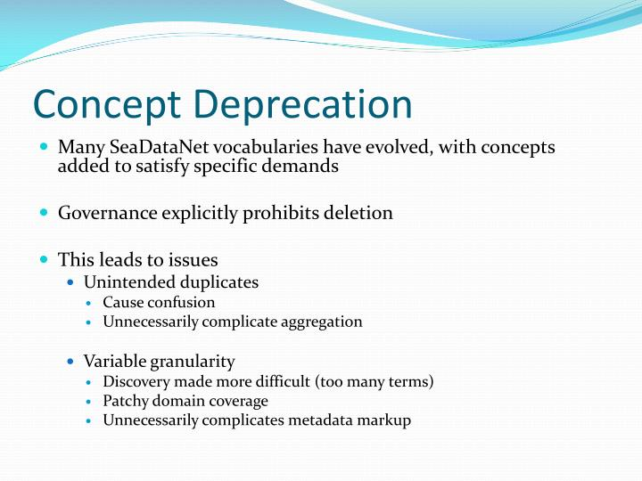 Concept Deprecation