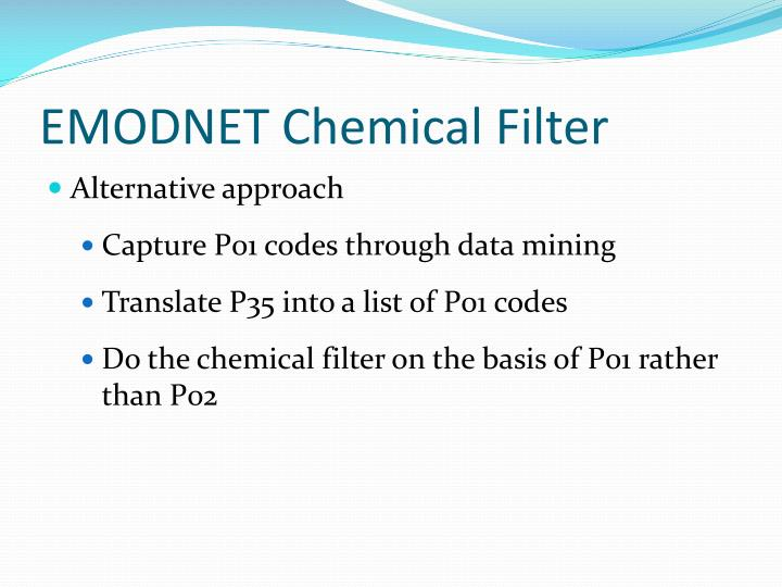 EMODNET Chemical Filter