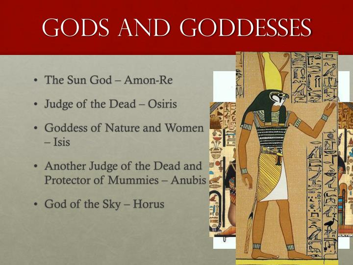 Gods and goddesses