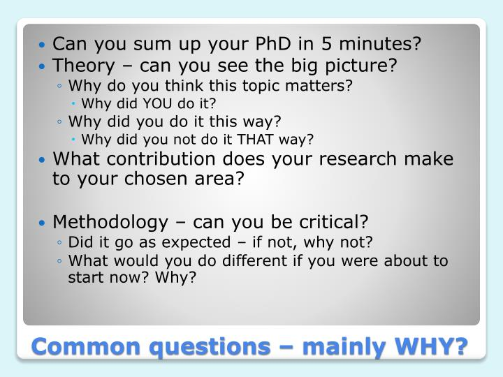 Can you sum up your PhD in 5 minutes?