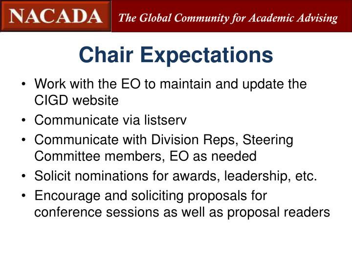 Chair Expectations