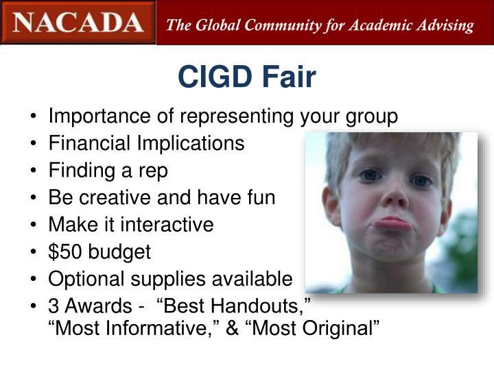 CIGD Fair