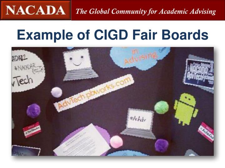 Example of CIGD Fair Boards