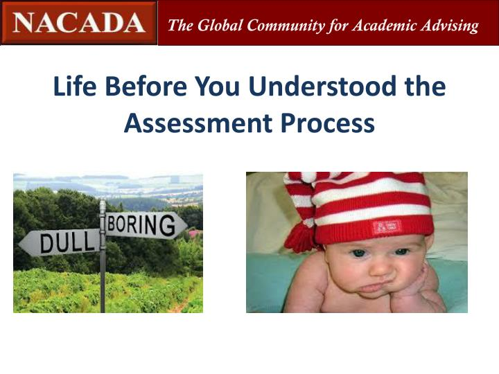 Life Before You Understood the Assessment Process