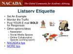 listserv etiquette