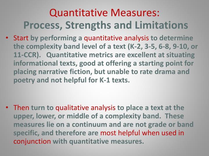 Quantitative Measures: