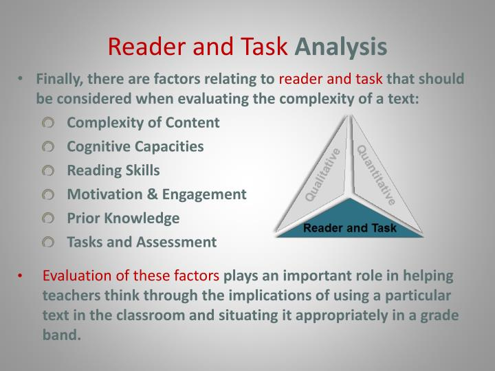 Reader and Task