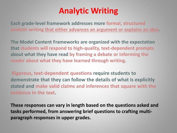 Analytic Writing