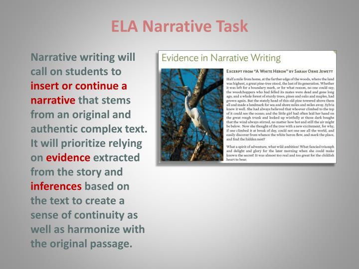 ELA Narrative Task